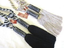 2 Africa curtain tiebacks - tassel rope tie backs - 70cm
